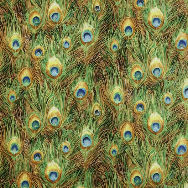 Northcott Fabric Yard Peacock Paradise Ii