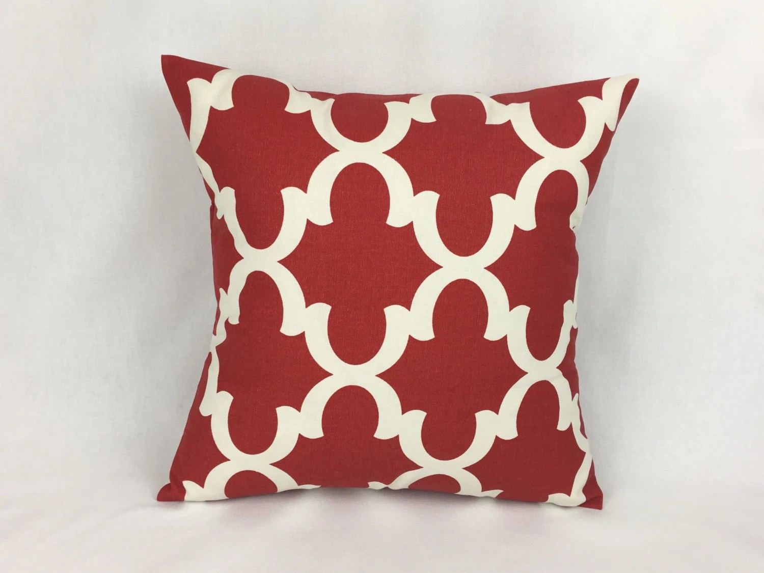 26x26 Euro Sham Pillow Cover 26x26 Red 26x26 Pillow Cover