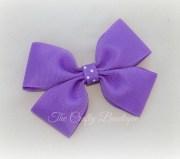 purple hair bow polka dot