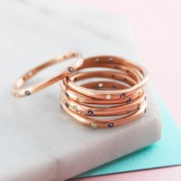 Stackable Rings Rose Gold Ring Birthstone Ring Gemstone