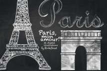 Paris Cliparts Chalkboard France Clip Art Eiffel Tower