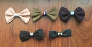 items similar leather hair bows