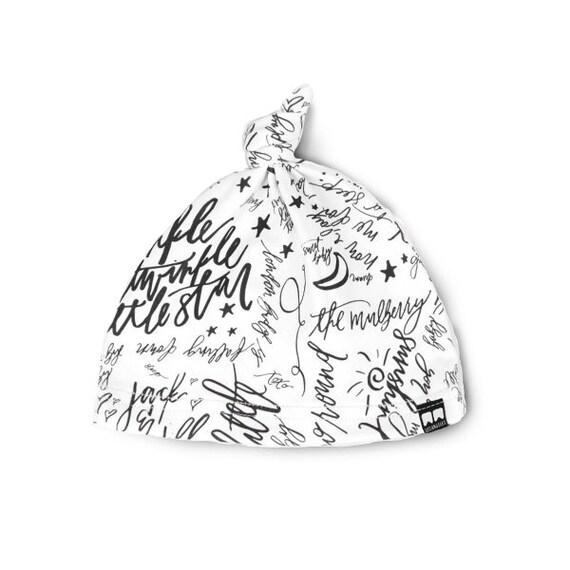 Items similar to BLACK WHITE TWINKLE hat, organic knit