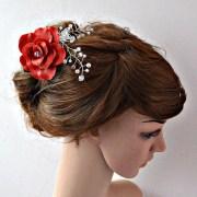 items similar red bridal hair