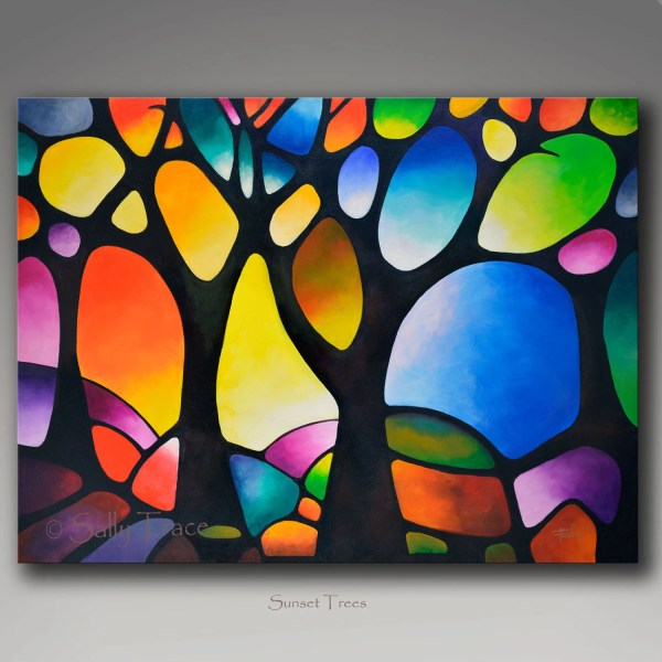 Giclee Print Canvas Abstract Tree Painting