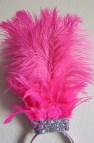 Pink Flamingo Samba Dance Headpiece Ostrich Feather Headdress