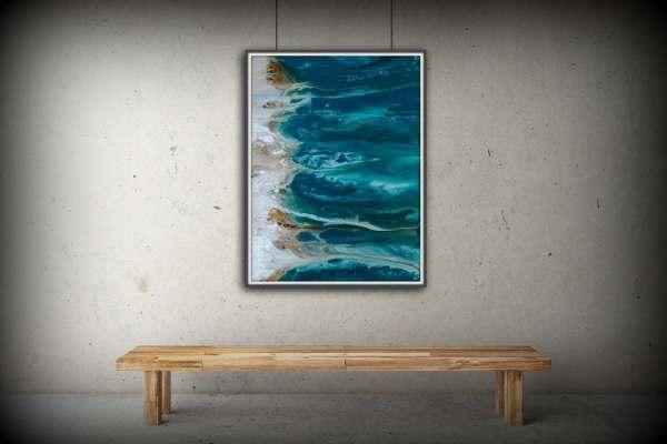 Abstract Art Blue Wall Coastal Landscape Giclee Large
