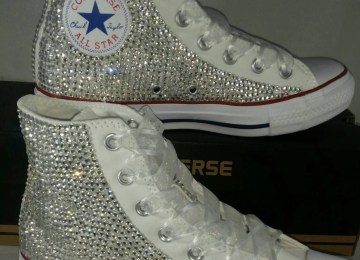 dfcdda5c1a3 Bedazzled Converse For Wedding