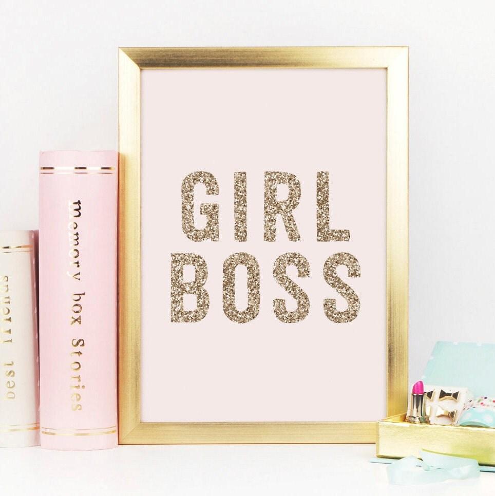 Just A Girl Boss Building Her Empire Wallpaper Girl Boss Gold Decor Gold Glitter Girl Boss Print Boss