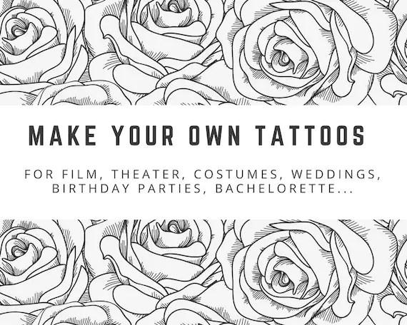 DIY Temporary Tattoo Paper. Inkjet or Laser printer. Print