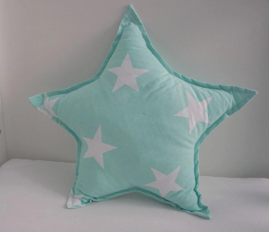 Star Pillow  Mint Pillow  Nursery Pillow  Baby Room Decor