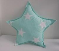 Star Pillow / Mint Pillow / Nursery Pillow / Baby Room Decor