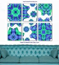 Teal Lavender Living Room Wall Decor Floral Mint Bedroom