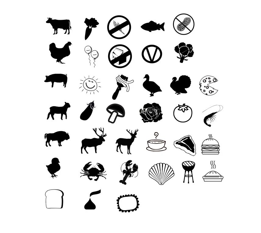 Items similar to Chicken, Fish or Beef: Meal Indicators
