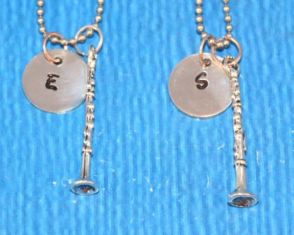 Friendship Charms Clarinet Necklace Bff