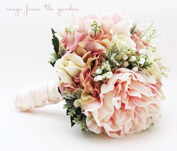 Brautstrau Maiglckchen Pfingstrosen Rosen Hortensie rosa und