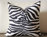 Black and White Zebra Pillow Cover Decorative Pillow Cover