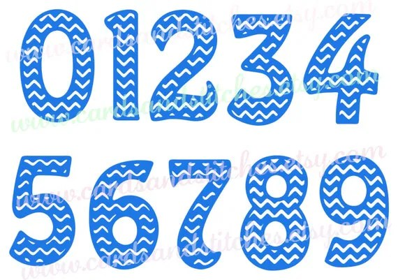 Download Chevron Numbers SVG Numbers SVG Digital Cutting File