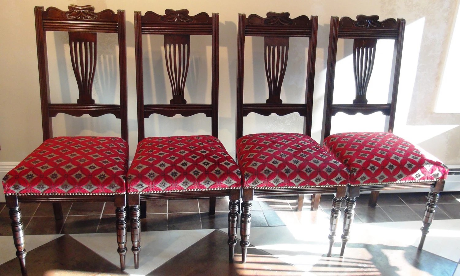 upcycled dining room chairs ergonomic chair ultrasound 4 antique vintage refinished