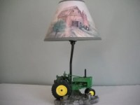 John Deere Tractor Lamp with Matching Shade
