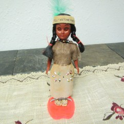 Howdy Doody Rocking Chair Tri Fold Lawn Target Vintage Native American Indian Doll With Papoose