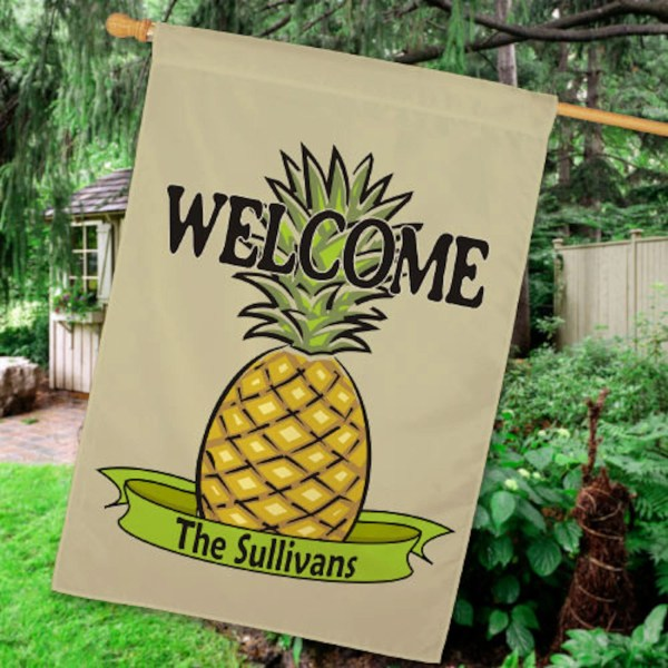 Personalized Pineapple House Flag