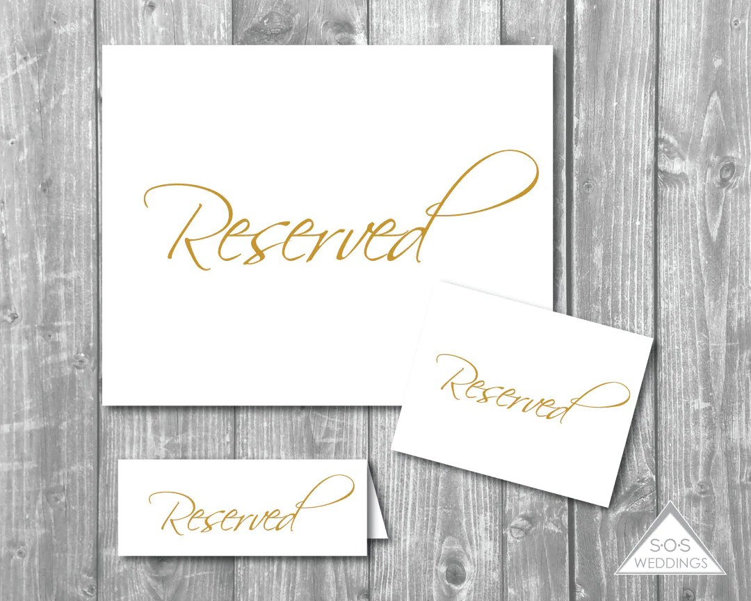 reserved signs for chairs template covered beach lounge collection gold seating diy