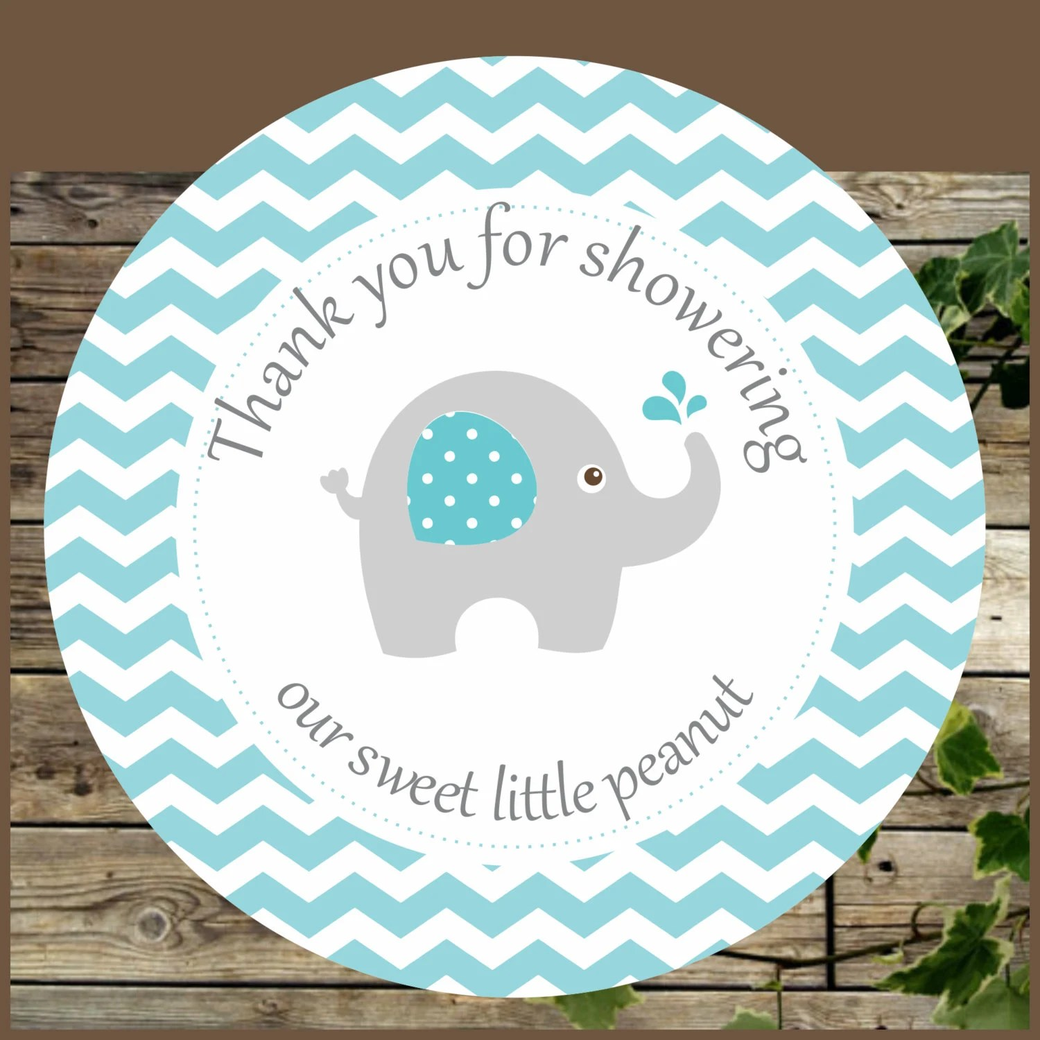 Elephant Favor Tags Blue Elephant Baby Shower Printable Favor Tags Instant Download Cupcake