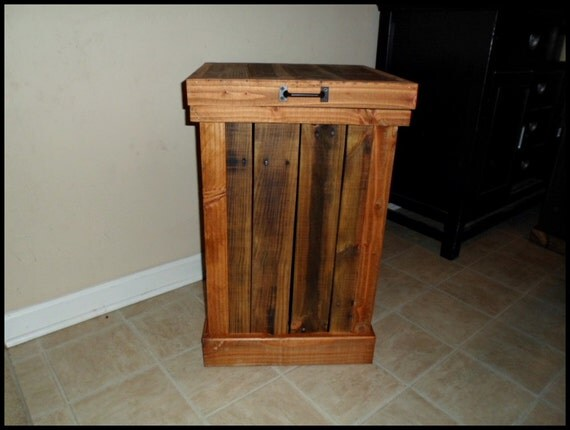 13 gallon kitchen trash can track lighting for kitchens wood clothes hamper laundry basket rustic
