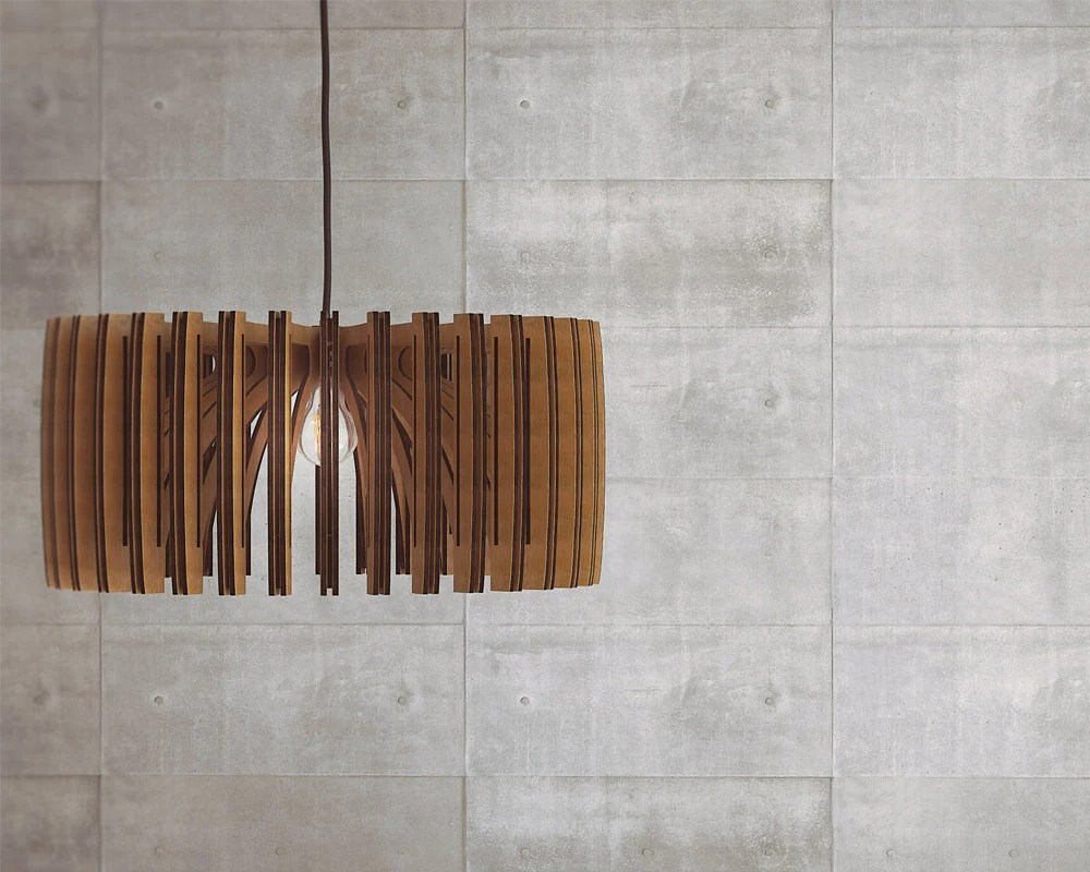 Wood Pendant Light Modern Chandelier Lighting Hanging
