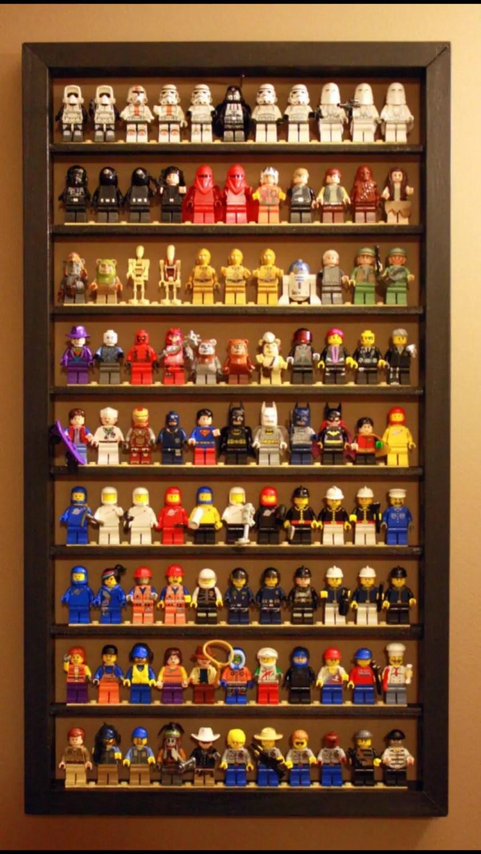 2Pack Lego Minifigure Display Case BlackWhiteRed Each