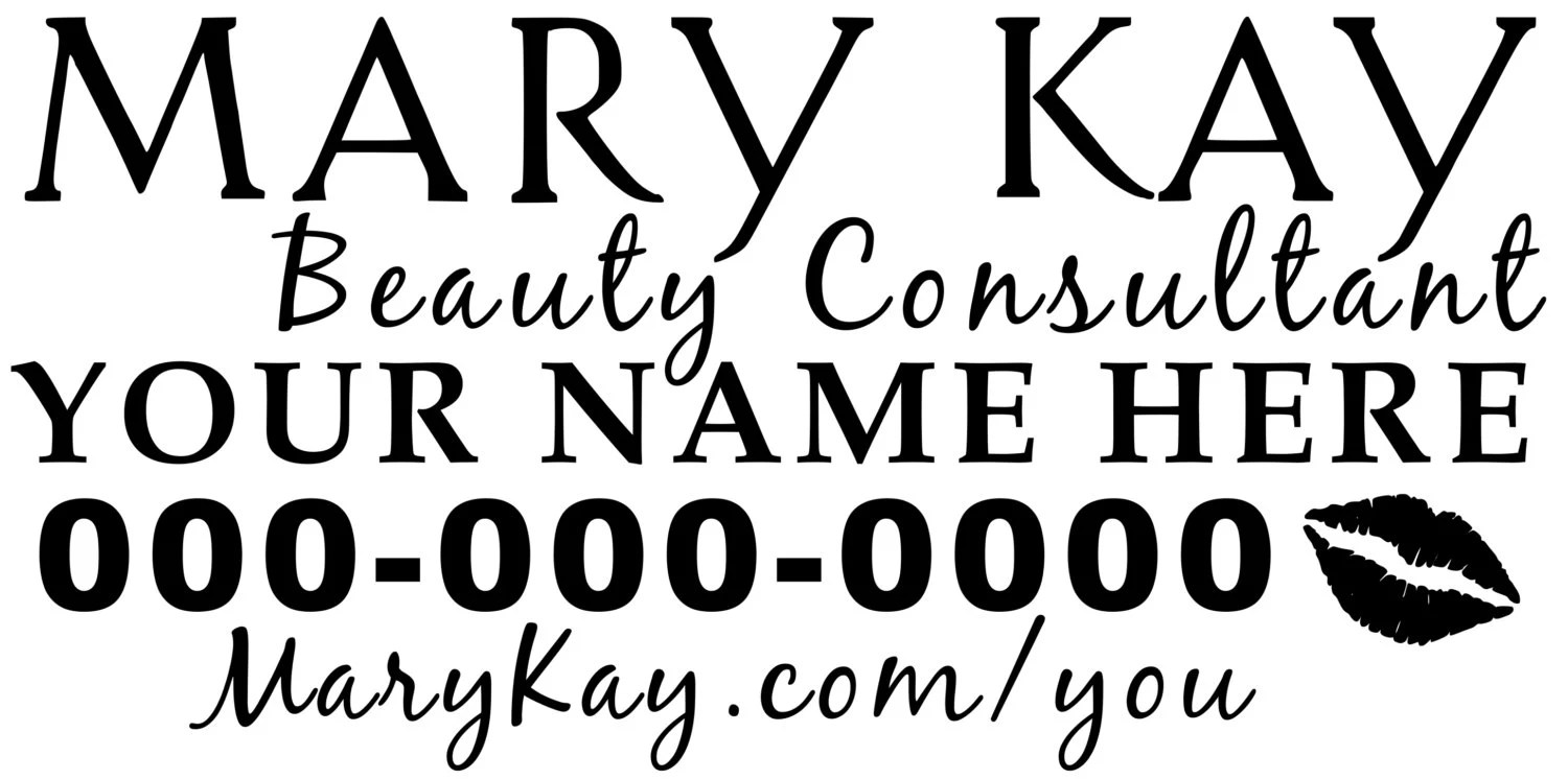 Mary Kay Beauty Consultant Car Decal 12 YOUR