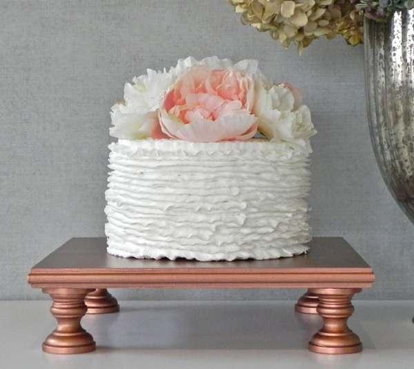 Rose Gold Cake Stand 14 Cupcake Square Vintage