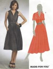 Womens Summer Dress Princess Seams 2 Lengths Oop Mccalls