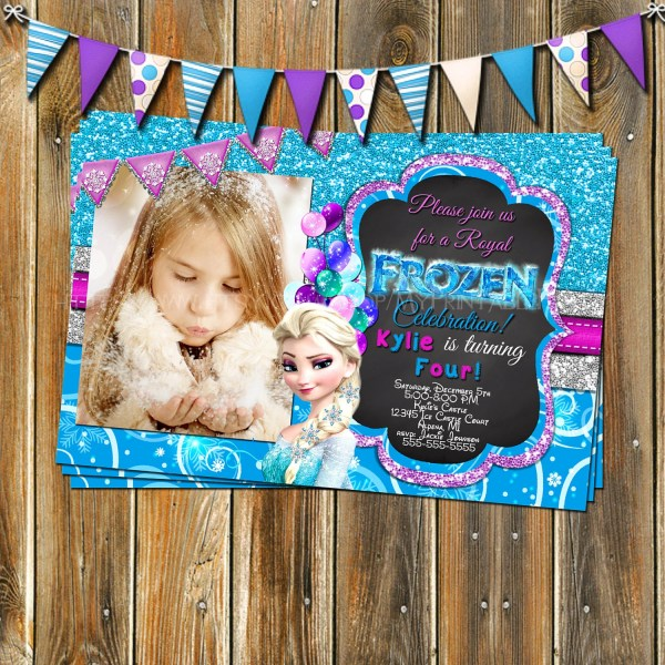 Frozen Invitation Birthday Myprintableparty
