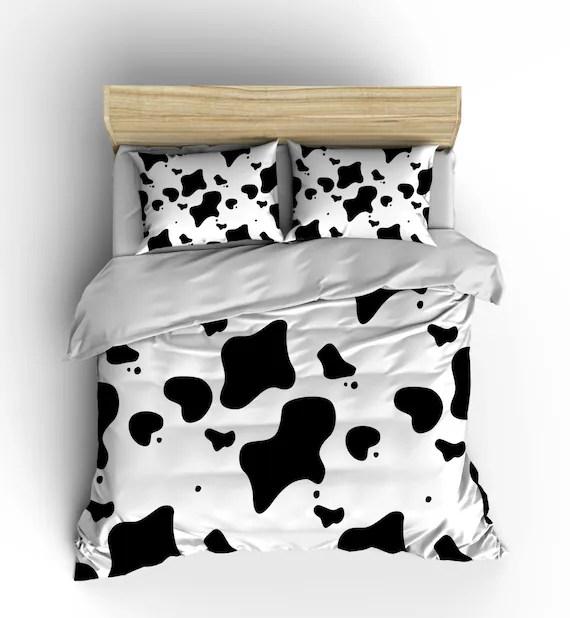 Cow Print Bedding Comforter Duvet Cover Bedroom Decor