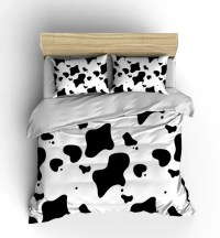 Cow Print Bedding Comforter Duvet Cover Bedroom Decor