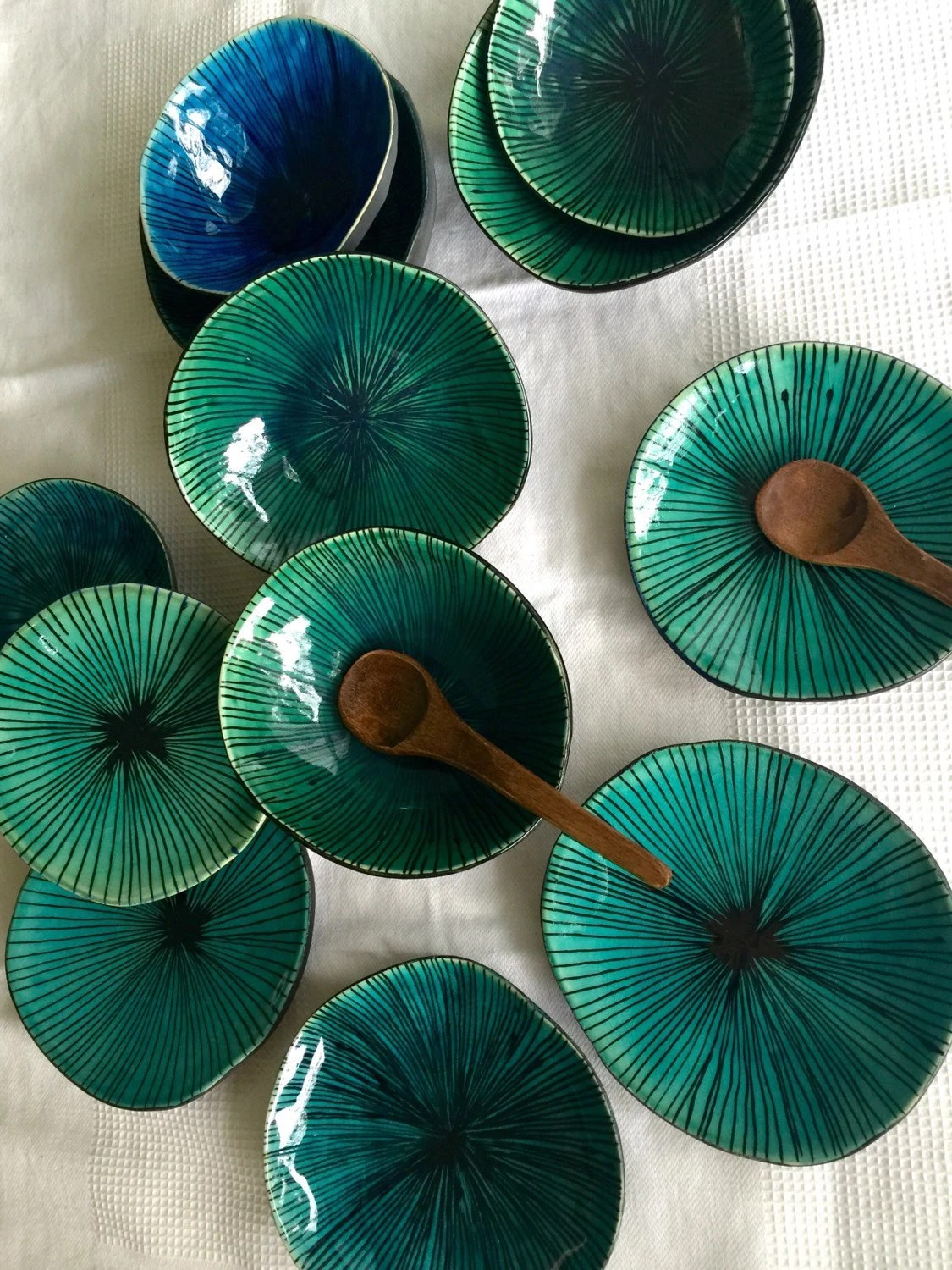 Decorated Ceramic Bowl Handmade Bowl Pottery by