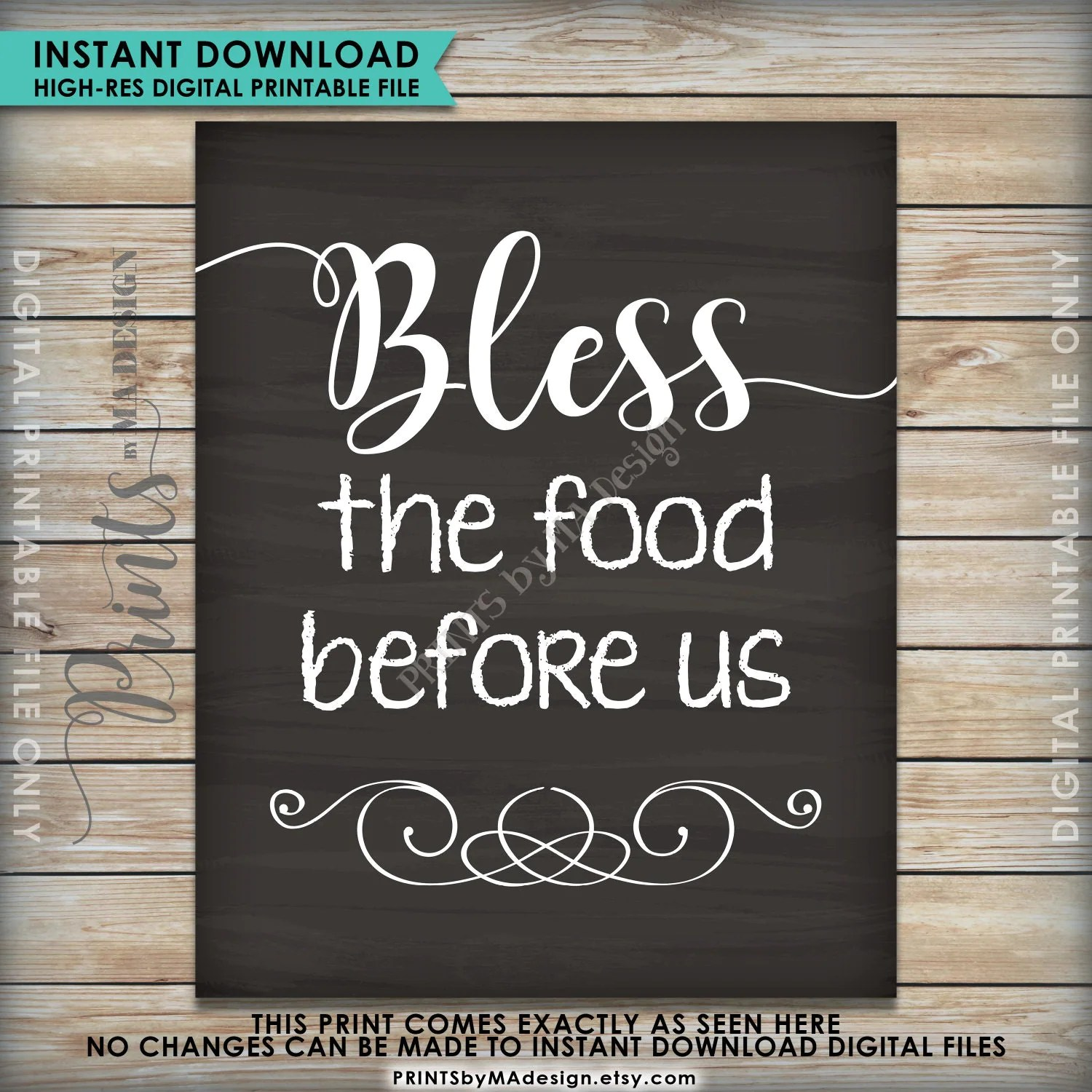 picture about Bless the Food Before Us Printable known as Printable Bless The Foods Prior to Us - 12 months of Fresh H2o