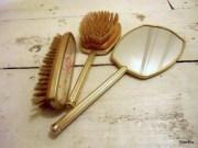 vintage hair set rare mirror