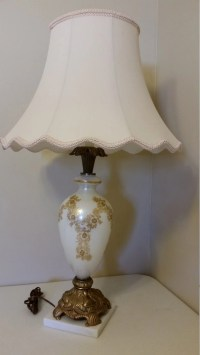 antique table lamp hollywood regency white by dedhamtreasures