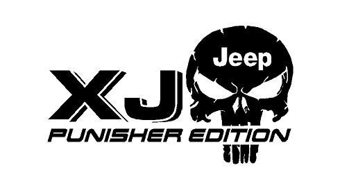 2 Truck Car Decal XJ JEEP Punisher Edition Vinyl