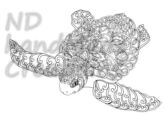 Paisley Doodle Amphibian Frog N1 animal by NDhandMadeCreations