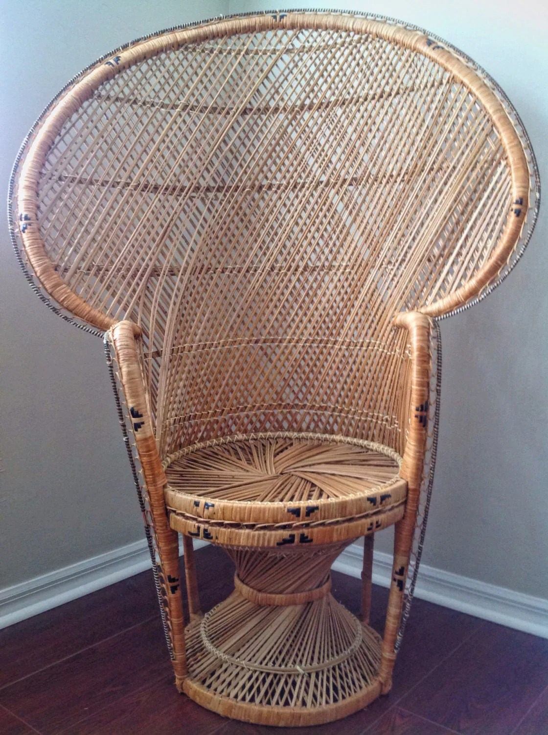 Antique Wicker Chairs Vintage Wicker Rattan Peacock Chair