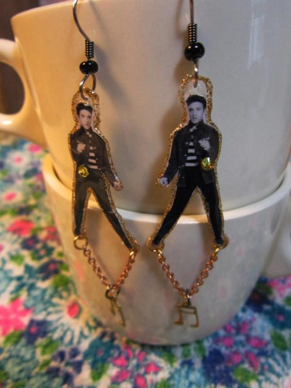 Elvis Presley Earrings Jail House Rock Graceland