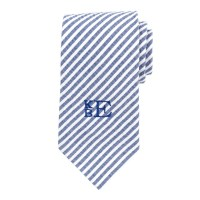 Men's Monogram Tie Men's Monogrammed Navy Ties