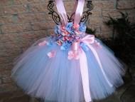 Pink Tutu Flower Girl Dresses Blue