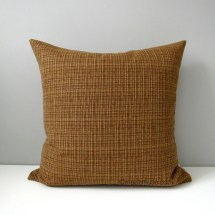 Brown & Gold Tweed Pillow Cover Modern Outdoor