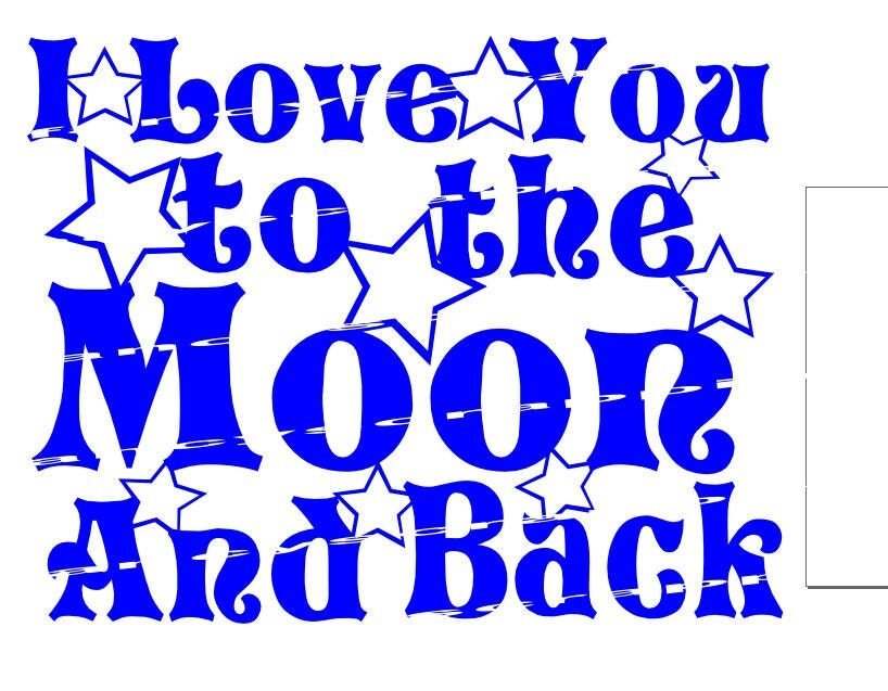 Download I Love You To The Moon And Back SVG Cutting File Glass