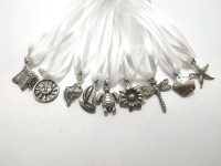 Wedding Cake Pulls / Summer Theme / Pewter / Set of 9